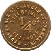 ¼ Cent - Litchfield (Illinois) – reverse