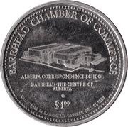 Souvenir Dollar - Barrhead, Alberta – reverse