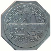 20 Franken (Ghent - WW1 German Occupation Coinage) – reverse