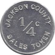 ¼ Cent - Jackson County (Illinois) – obverse