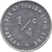 ¼ Cent - Toulon Civic Club (Illinois) – reverse