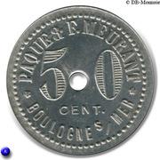 50 Centimes Paqué & F.Meurant - Boulogne sur Mer [62] – reverse