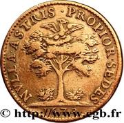 Token - Louis XIV and Maria-Theresia – reverse