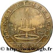 Louis XIV - Batiments du Roi – reverse