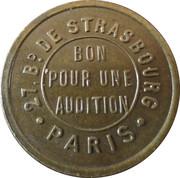 Phonograph Token - Palace Chanson (Paris) – reverse