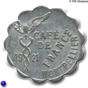 10 Centimes Cafe de France Montpellier – obverse