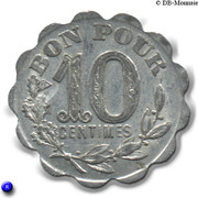 10 Centimes Cafe de France Montpellier – reverse