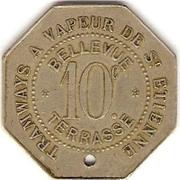 10 Centimes - Tramways à Vapeur - Bellevue Terasse - Saint Etienne [42] – reverse
