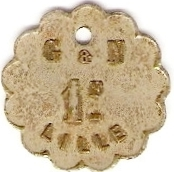 1 Franc - G & N - Lille [59] – reverse