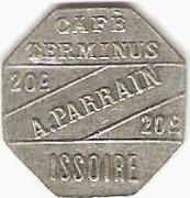 20 Centimes - Café Terminus , A. Parrain - Issoire [63] – obverse