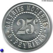 25 Centimes - Galeries Modernes - G.Peyrière - Réalmont [81] – obverse