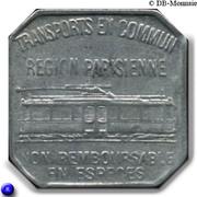 25 Centimes Région Parisienne 75 TCRP – obverse