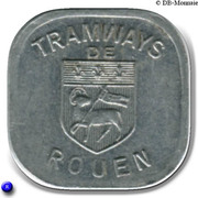 Bon pour une section - Seconde classe - Tramways de Rouen [76] – obverse