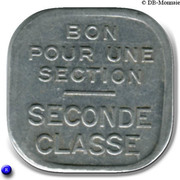 Bon pour une section - Seconde classe - Tramways de Rouen [76] – reverse