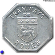 Bon pour une section - Seconde classe - Tramways de Rouen 76 – obverse