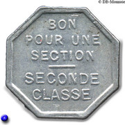Bon pour une section - Seconde classe - Tramways de Rouen 76 – reverse
