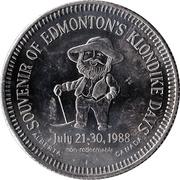 """Token - Edmonton, Alberta """"Klondike Dollar"""" (Non-Redeemable Issue) – reverse"""