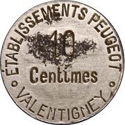 10 Centimes (Valentigney) – obverse