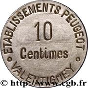 10 Centimes (Valentigney) – reverse