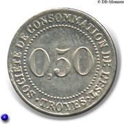 50 Centimes - Société de consommation de l'Est (Troyes) – reverse