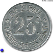 25 Centimes - Maison Rigail - St Mathieu de Tréviers [34] – obverse