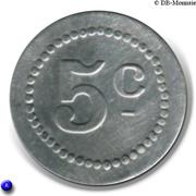 5 Centimes - Café Moderne - Saint-Etienne [42] – reverse