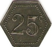 25 Centimes - Cantine Girard - 77e d'Infanterie - CHOLET [49] – reverse