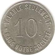 10 Centimes Société Coopérative des Usines Renault - Boulogne-Billancourt [92] – obverse