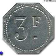 3 Francs - Caisse des écoles - Cantine scolaire (Maisons-Alfort) – reverse