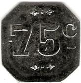 75 Centimes - Charet E. Négociant - Estivareilles [42] – reverse