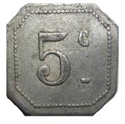 5 Centimes - 16eme Chasseurs – reverse