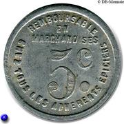 5 Centimes - Chambre Syndicale épiciers détaillants - Dax – reverse