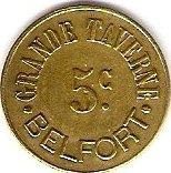 5 Centimes - Grande Taverne - Belfort [90] – obverse