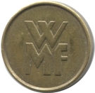 Token - WMF (small letters) – obverse