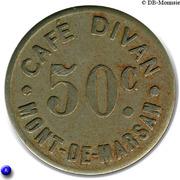 """50 Centimes """"Café Divan"""" Mont de Marsan (40) – obverse"""