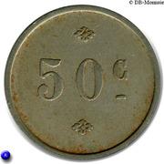 """50 Centimes """"Café Divan"""" Mont de Marsan (40) – reverse"""