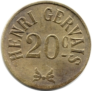 20 c Henri Gervais – obverse