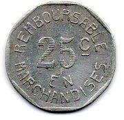 25 Centimes Bayonne 64 – reverse