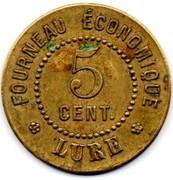 5 Centimes - Fourneau économique (Lure) – obverse