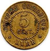 5 Centimes - Fourneau économique (Lure) – reverse