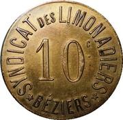 10 Centimes - Syndicat des Limonadiers (Béziers) – obverse