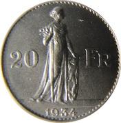 20 Francs - Léopold III (Alphonse Mauquoy) – reverse