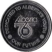Medallion - Alberta 75 – reverse