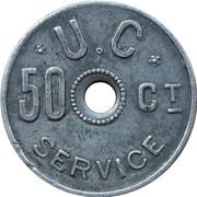 50 Centimes - Union Coopérative (Liège) – reverse