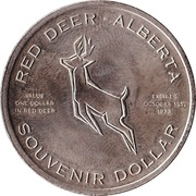 Souvenir Dollar - Red Deer, Alberta – reverse