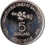 5 Dollars - Hudson's Bay Company – reverse