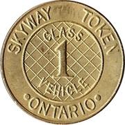 Skyway Token - Class 1 Vehicle (Ontario) – obverse
