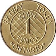 Skyway Token - Class 1 Vehicle (Ontario) – reverse