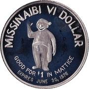 Missinaibi VI Dollar - Mattice-Val Côté, Ontario – reverse