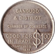 1 Dollar - Sangudo, Alberta – reverse